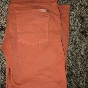 7 For All Mankind melon colored jeans